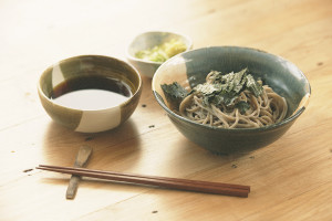Soba with soy source based dip £5.80